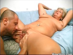Overrupe mature blond slut gets her old part3