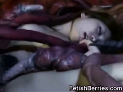 Tentacles Jizz on Asians!
