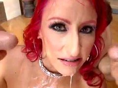 Red Haired Chick Gangbanged